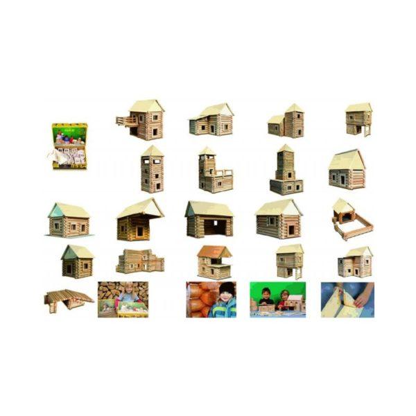 184 db-os rönkfa építőjáték - Vario XL