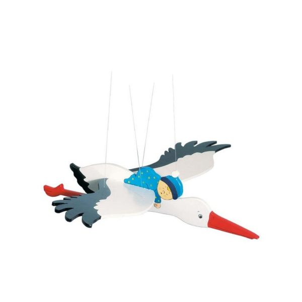 Függődísz - Kék gólya