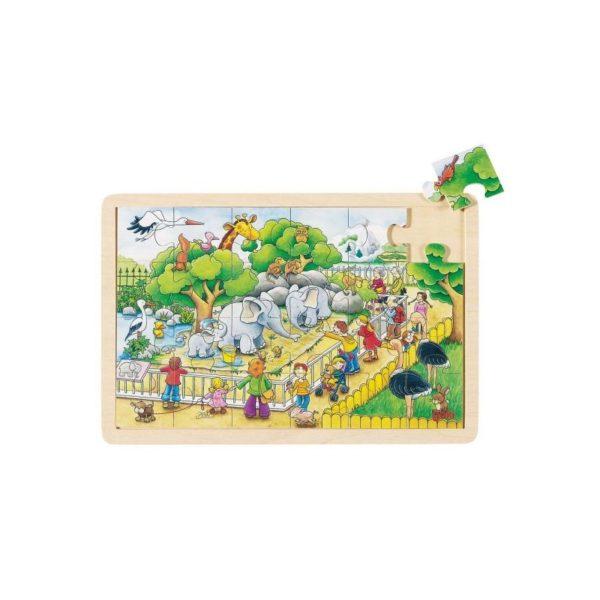 Fa puzzle - Állatkerti séta