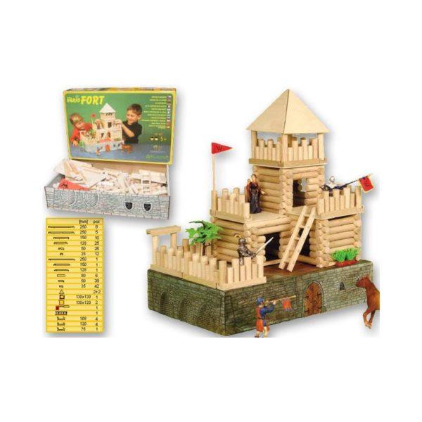 Fa építőjáték - Vario vár