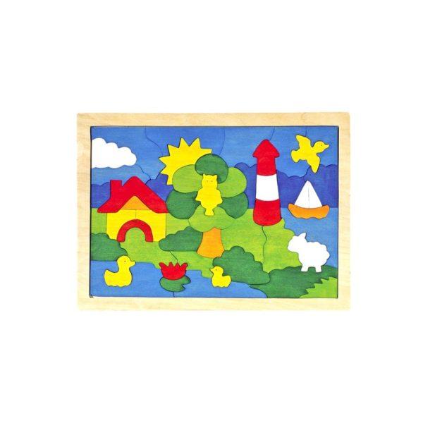 Fa puzzle - Világítótorony