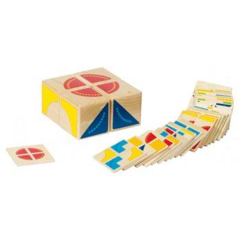 Térbeli kirakó játék - Kubus geometriai kirakó