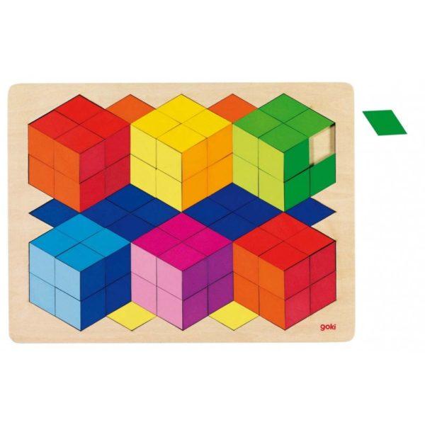 Térhatású fa puzzle