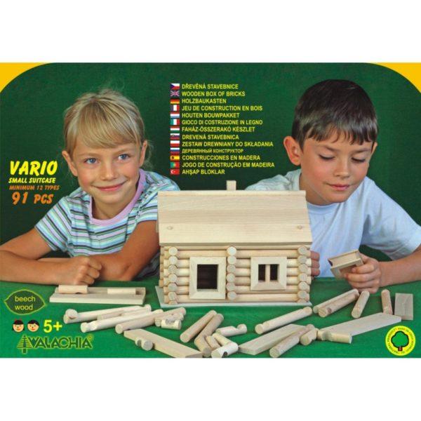 Fa építőjáték - Vario bőröndben