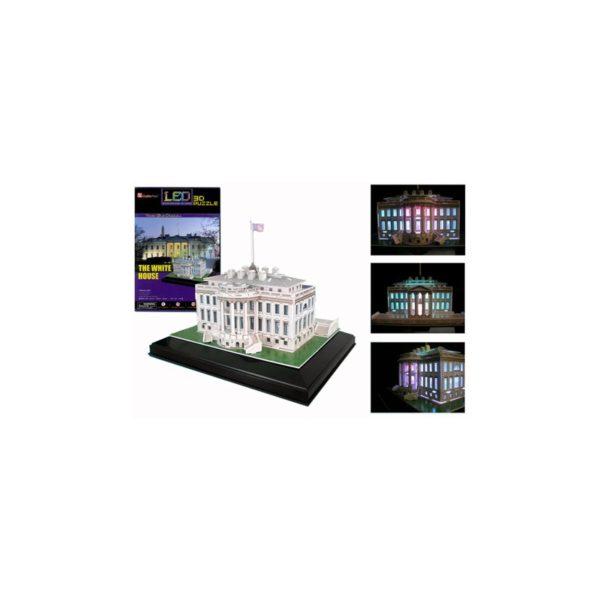3D LED világító makett - White House