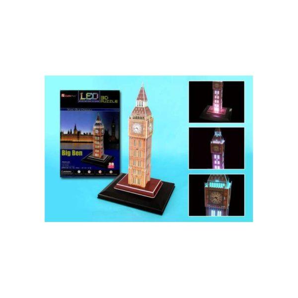 3D LED világító makett - Big Ben