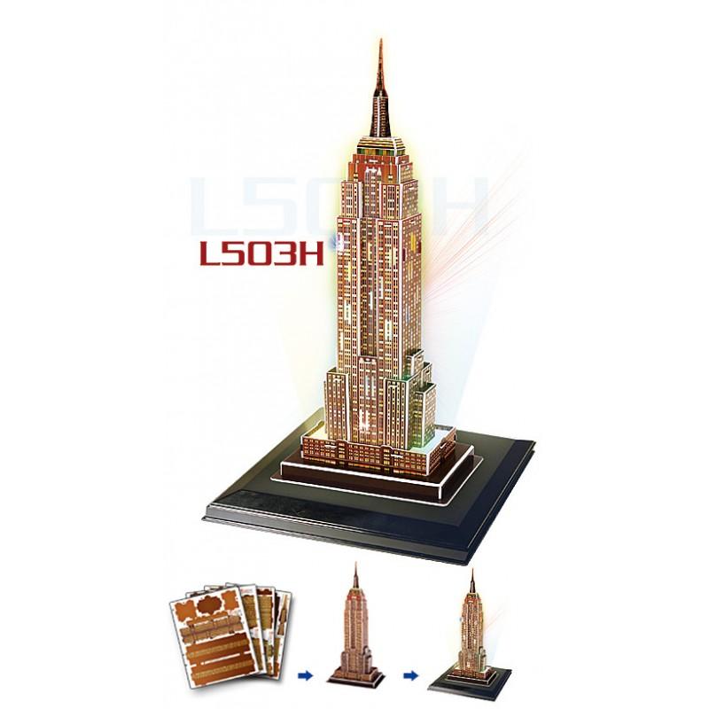 3D LED világító makett - Empire State Building