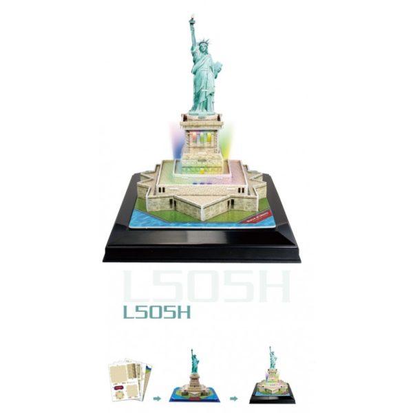 3D LED világító makett - Statue of Liberty (Szabadságszobor)