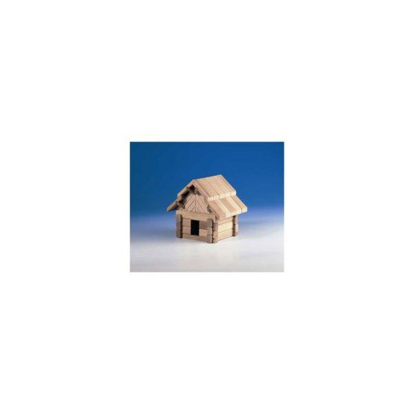 Fa építõjáték - Házikó, 42 db-os