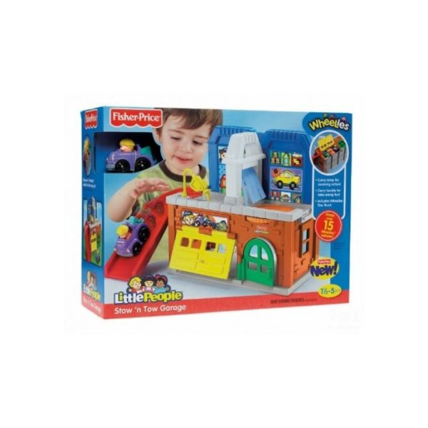 Fisher Price - Little People négykerekû autópajtás-garázs