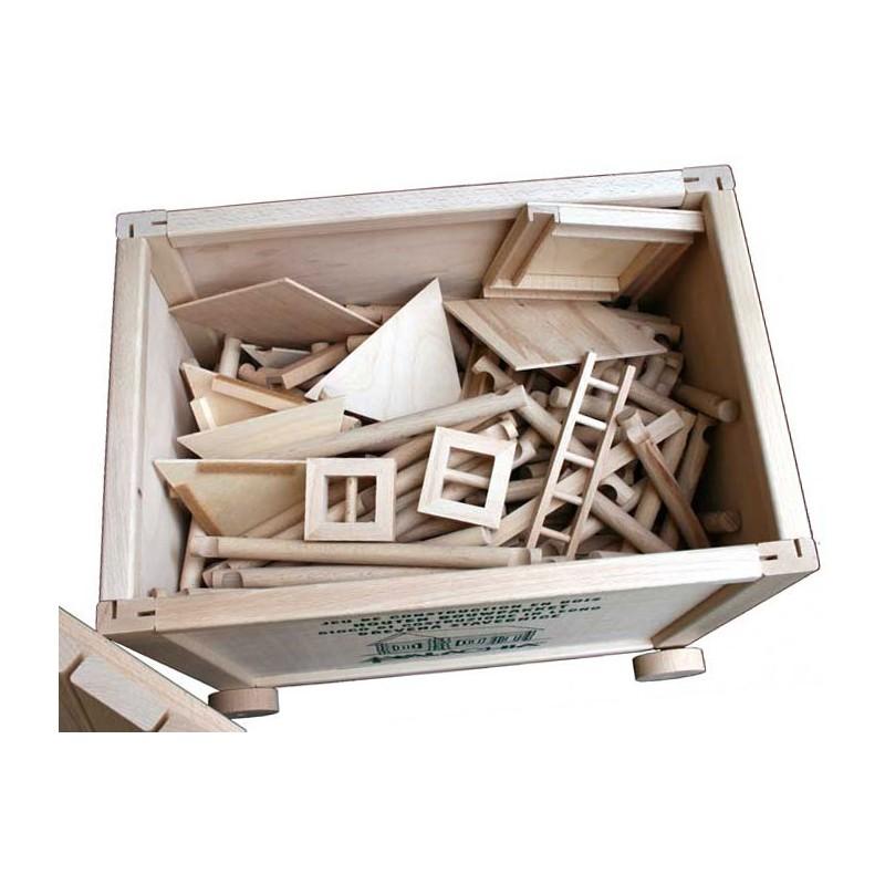 Vario Box fa építőjáték faládában, 450 db-os