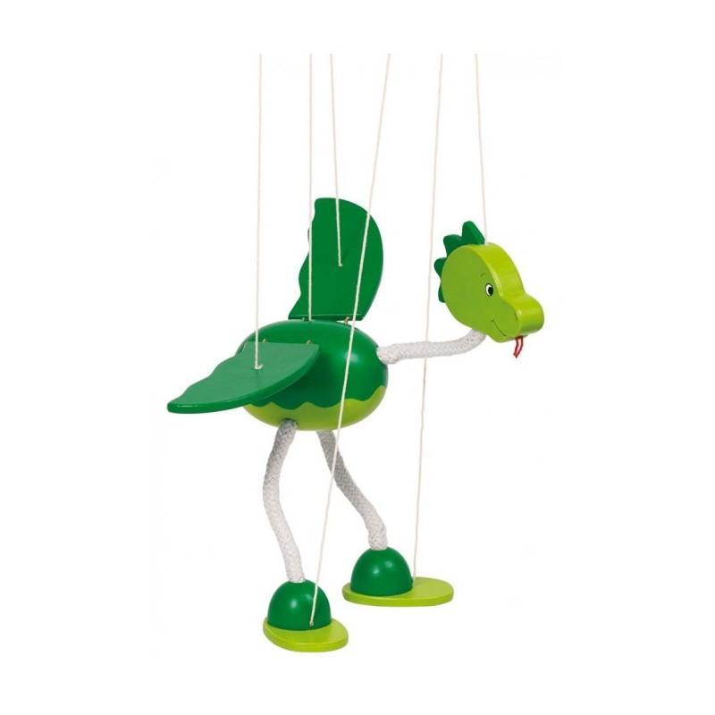 Marionett báb fából - Dínó