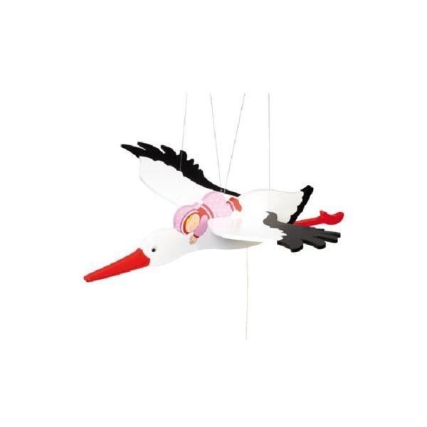 Függődísz - Rózsaszín gólya