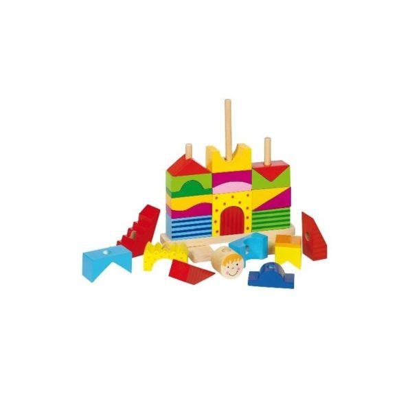 Fa építőkockák - Montesszori vár