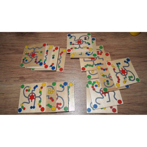 Golyós színkirakó társasjáték kártyák