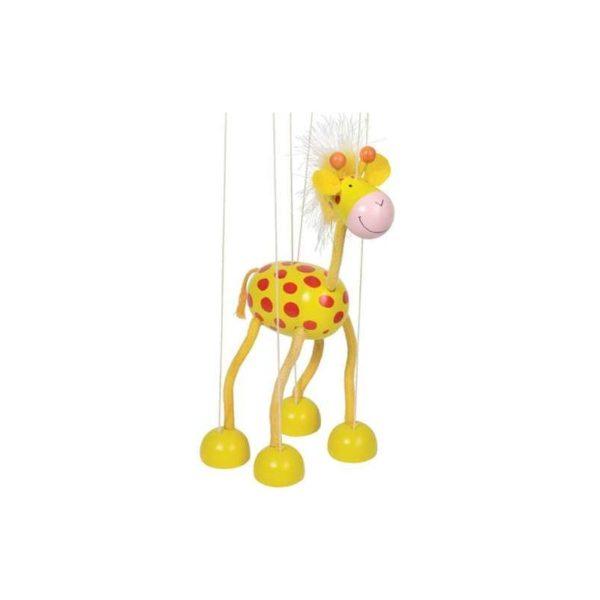 Marionett figura fából - Zsiráf