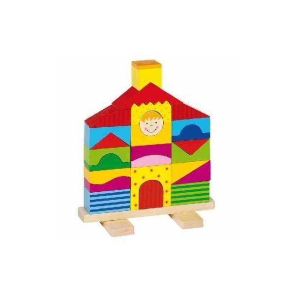 Fa építõkockák - Házikó