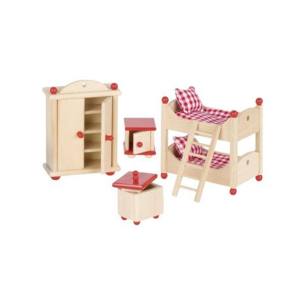 Gyerekszoba bútor fából, kiegészítőkkel