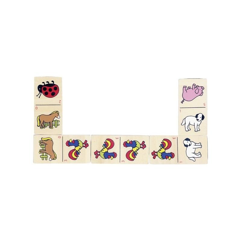 Állatos dominó fából