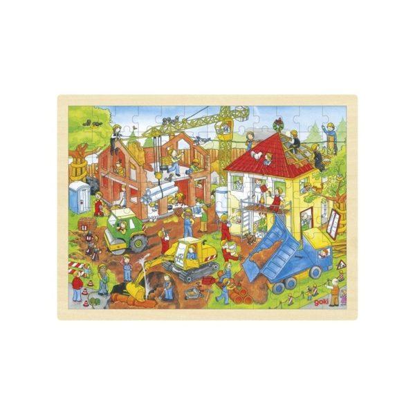 Fa puzzle - Építkezés