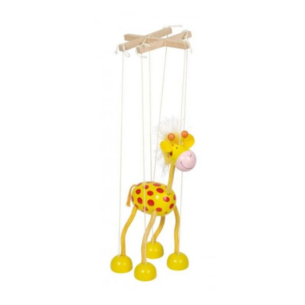 Marionett báb fából - Zsiráf