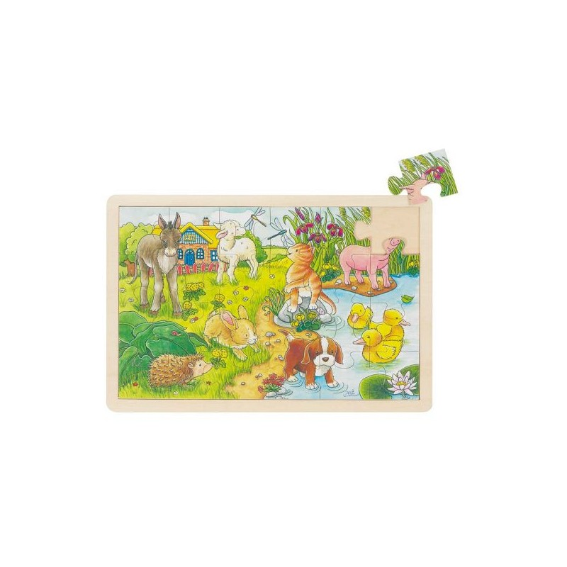 Fa puzzle - Bébi állatok