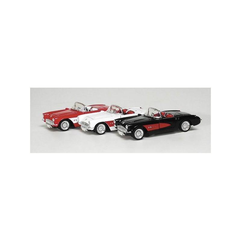 Fém modell autó - Chevrolet Corvette 1957, fekete