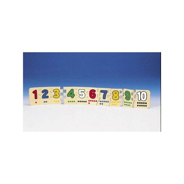 Fa puzzle - Számok