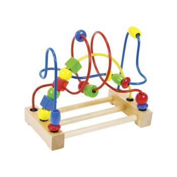 Golyóvezető játék fa formákkal