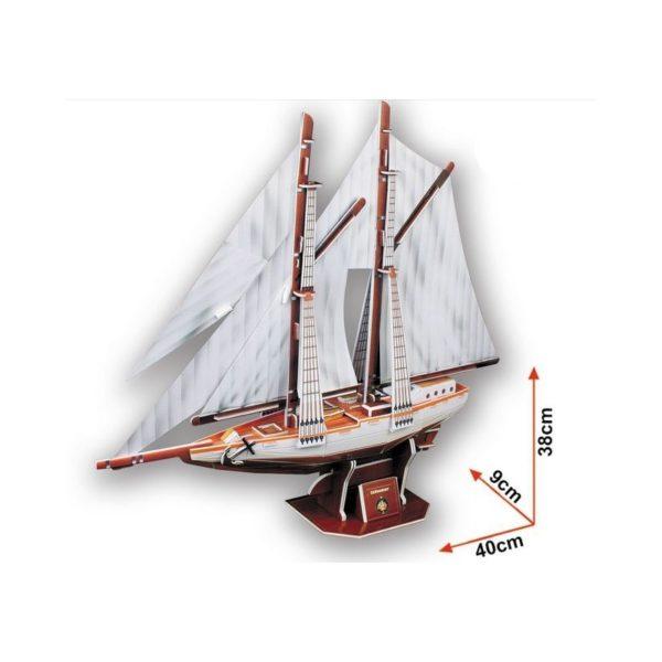 3D makett - Kétárbócos vitorláshajó