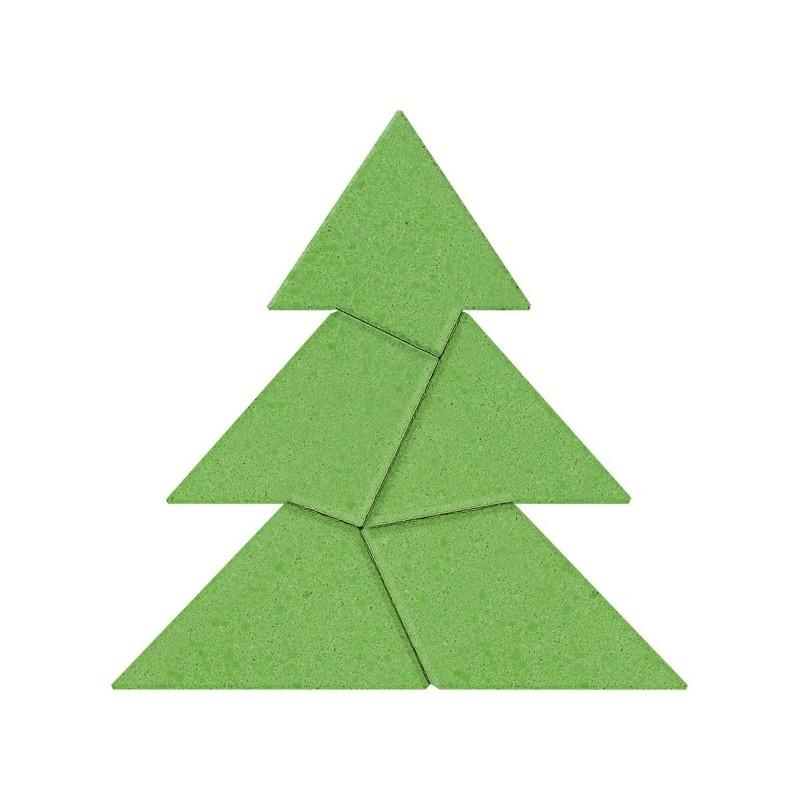Anker logikai kirakó kőből - Fenyőfa tangram