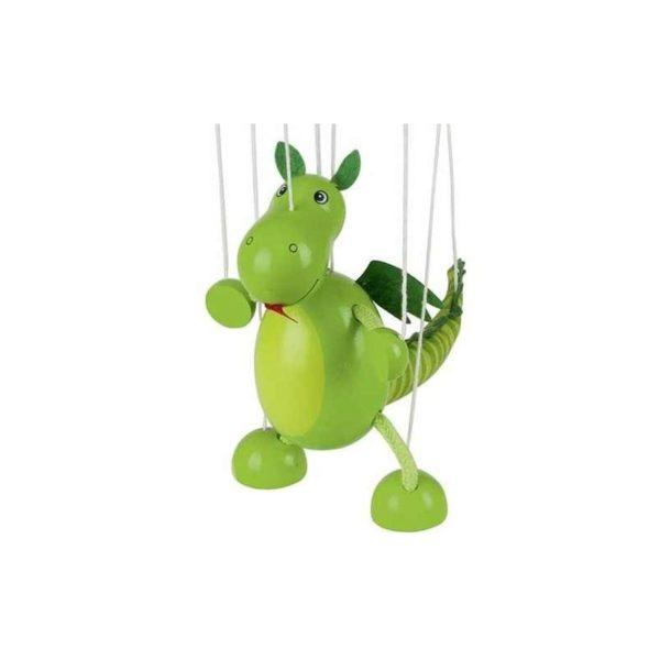 Marionett figura fából - Sárkány