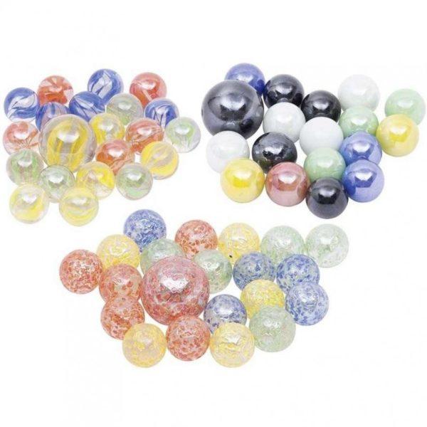 21 db színes üveggolyó