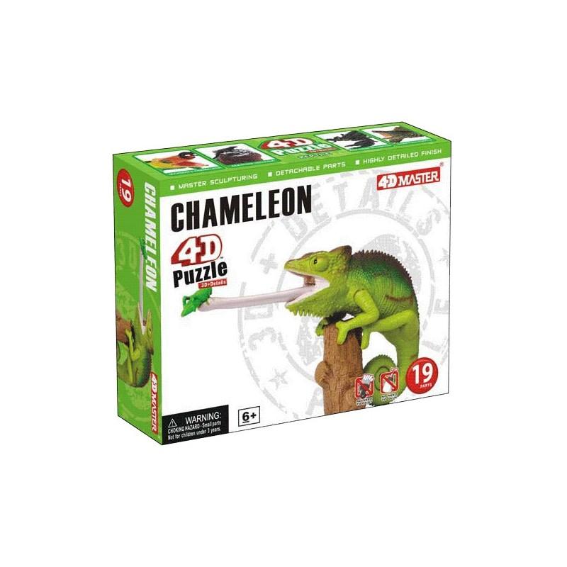 3D puzzle - Kaméleon