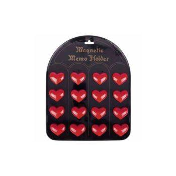 Mágneses jegyzettartó - Szív