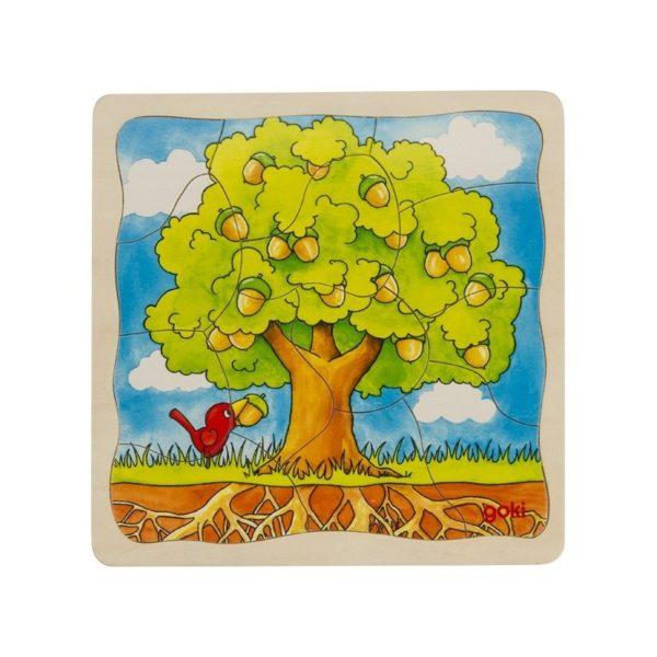 Négyrétegű fa kirakó - Fa