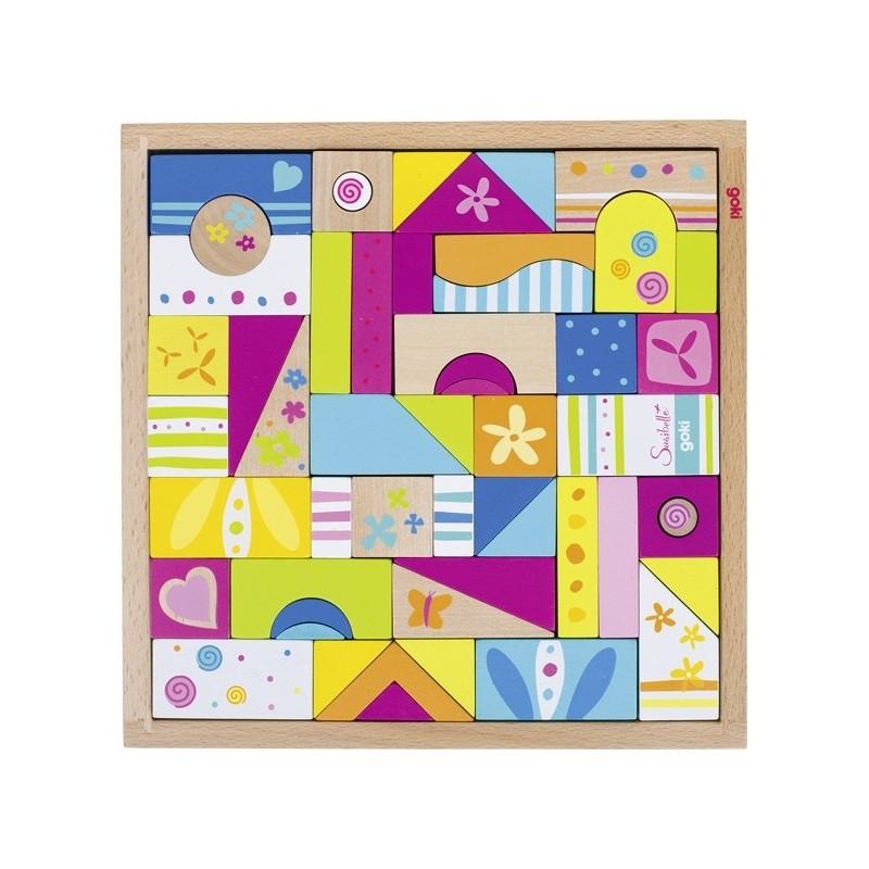 Fa építőjáték és puzzle
