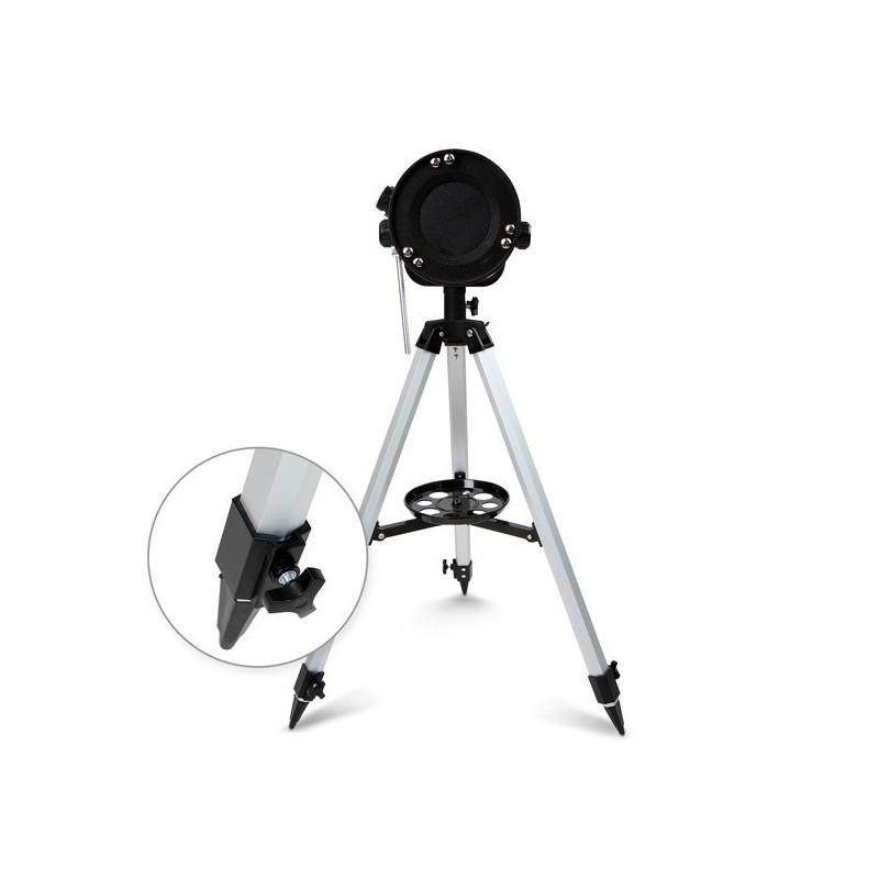 Teleszkóp kiegészítőkkel, ezüst