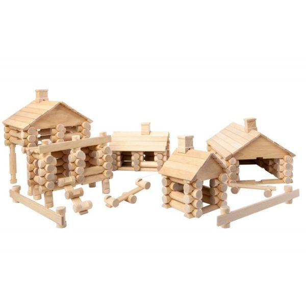 VARIS rönkfa építőjáték, 222 db-os