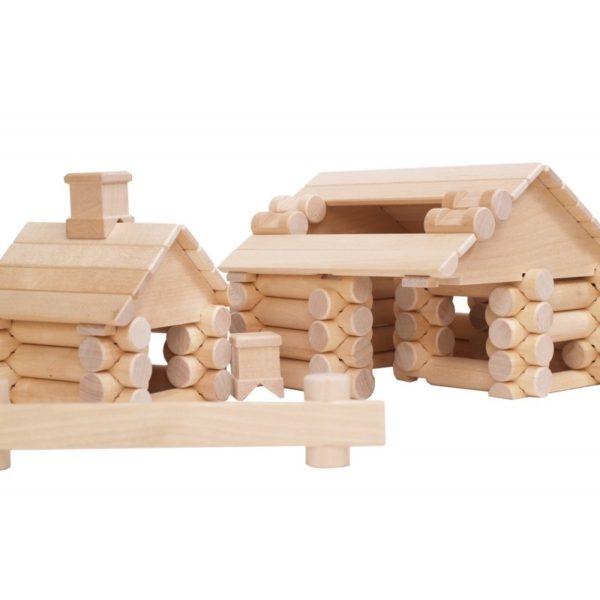 VARIS rönkfa építőjáték, 111 db-os