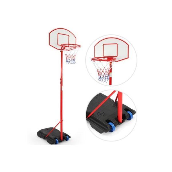 Gyerek kosárlabda palánk görgős állvánnyal